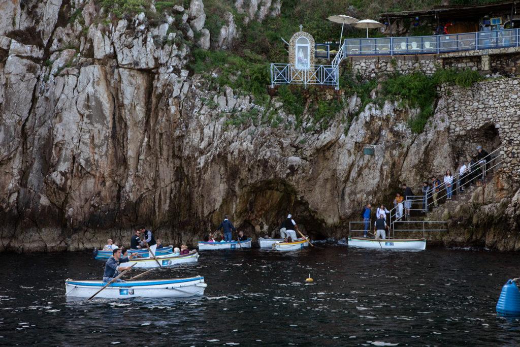 Accesso alla Grotta Azzurra di Capri