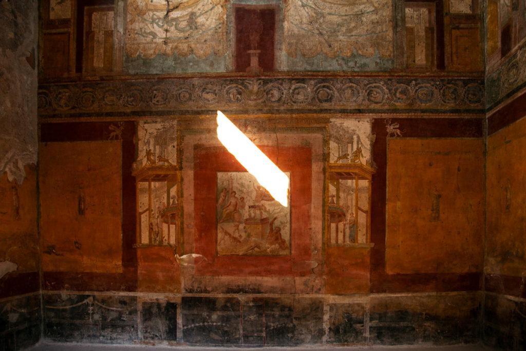 Affresco murale nella Domus Sirici
