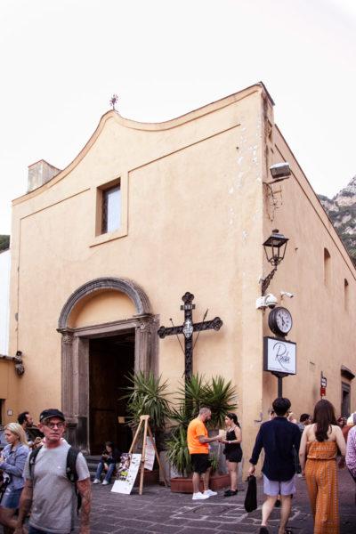 Chiesa del Santo Rosario di Positano - Facciata