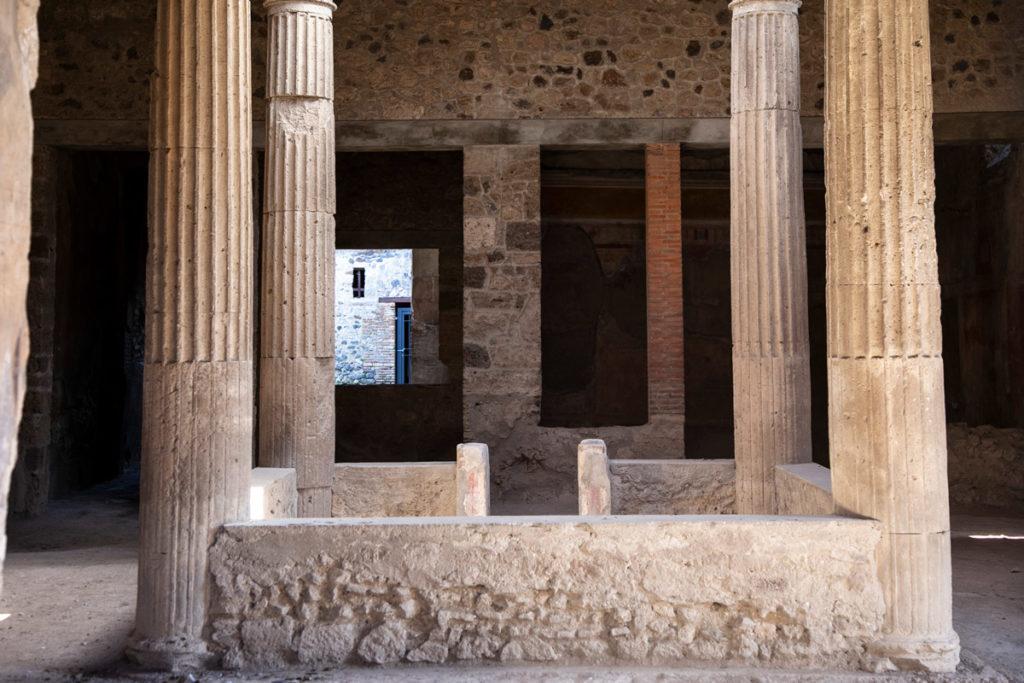 Colonne interne del cortile di Casa di Paquius Proculus