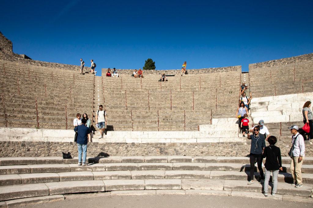 Dentro al Teatro Grande di Pompei