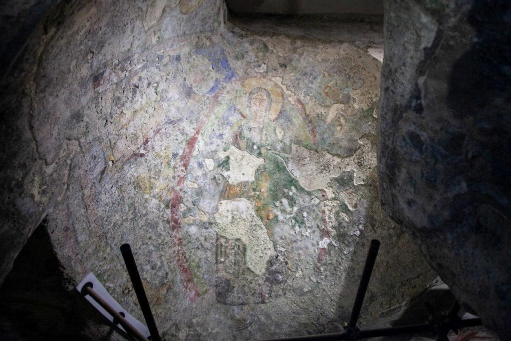 Dipinto sul soffitto delle Catacombe di San Gennaro
