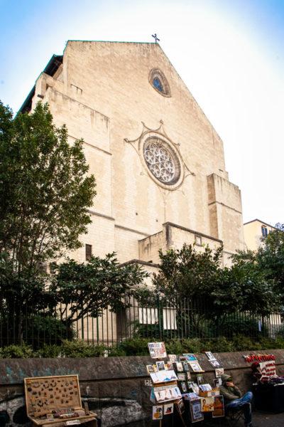 Facciata della chiesa di Santa Chiara a Napoli