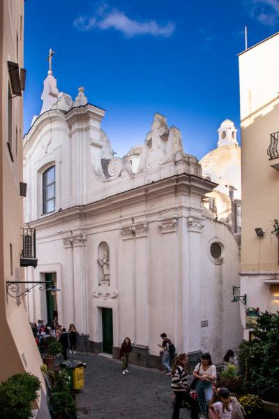 Facciata della chiesa di Santo Stefano a Capri