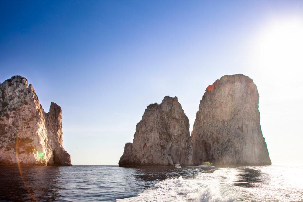 Faraglioni di Capri visti durante la gita in barca