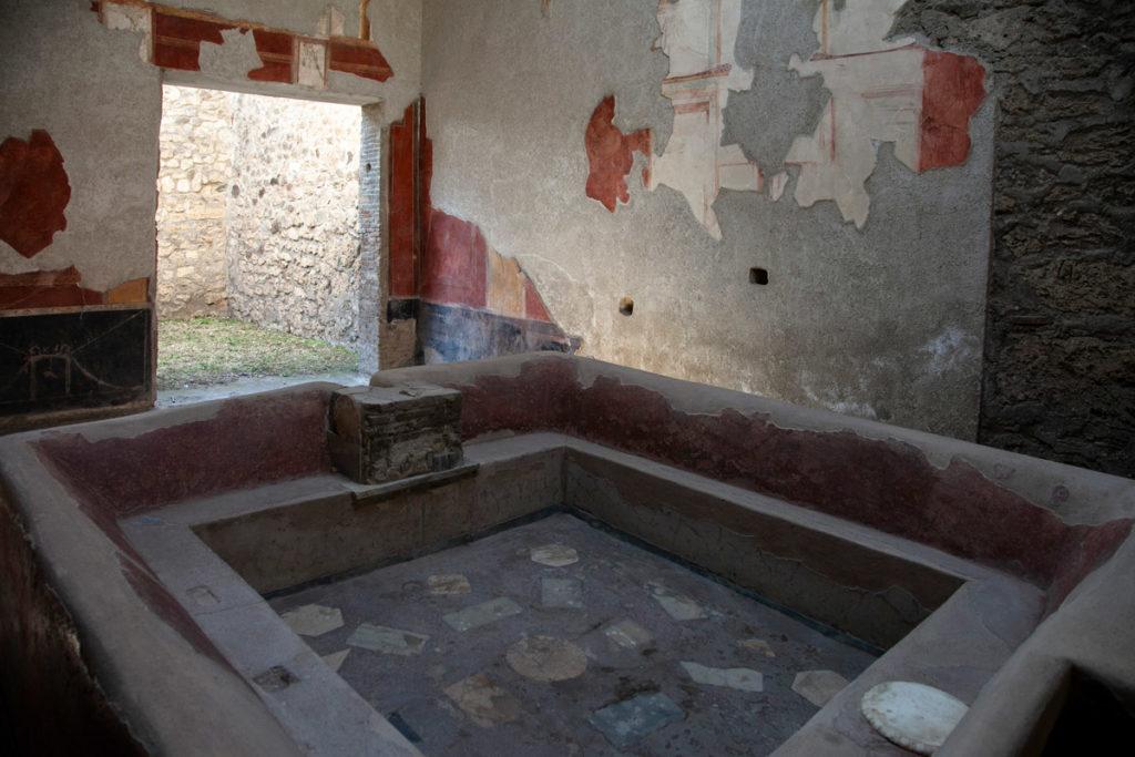 Fullonica di Stephanus laboratorio di lavanderia a Pompei