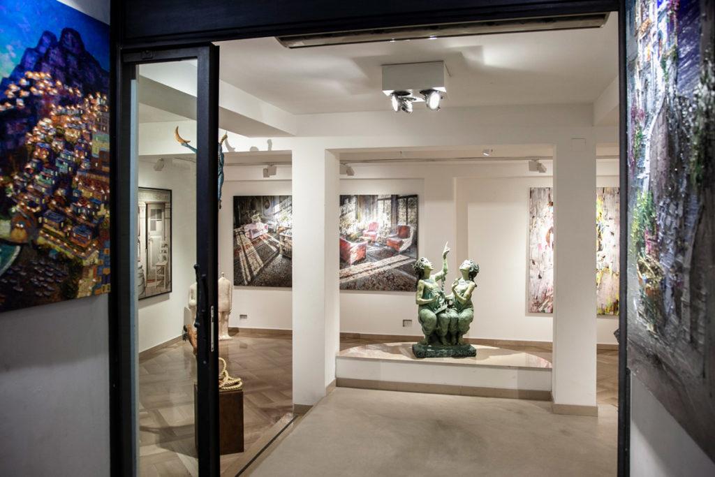 Gallerie d'Arte nel centro storico di Positano