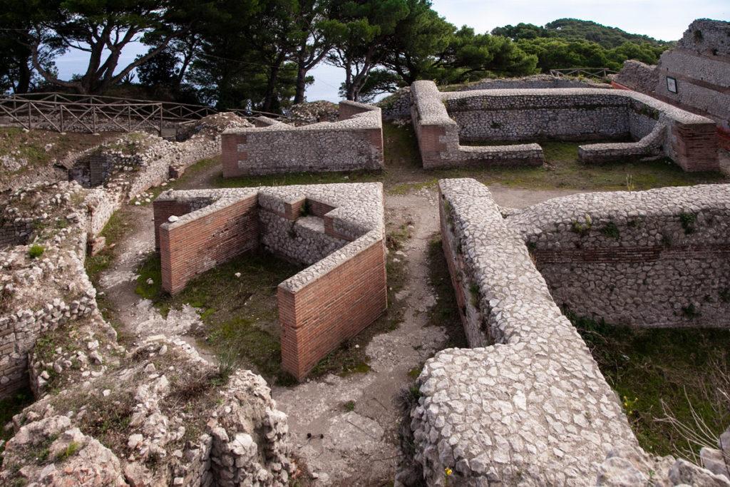 Gli appartamenti di Villa Jovis - Villa di Tiberio a Capri