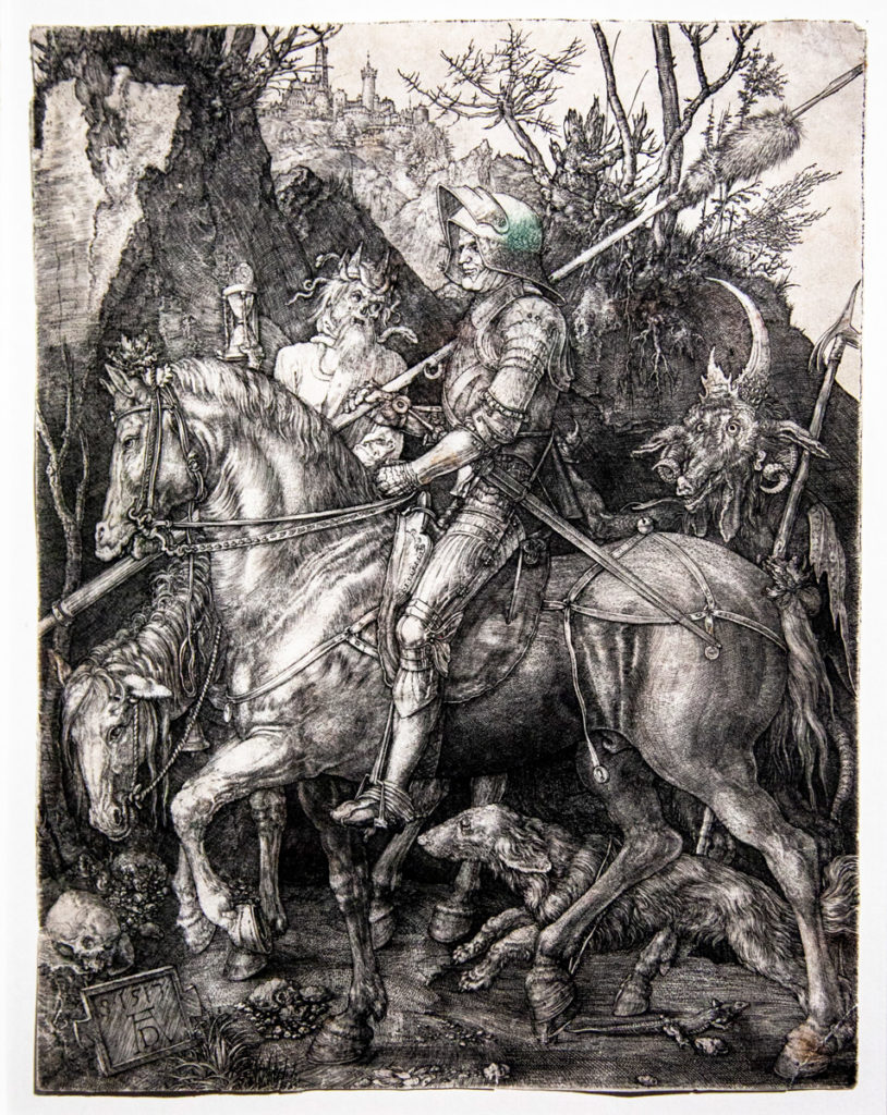 I Meisterstiche di Albrecht Dürer - Il cavaliere, la morte e il diavolo del 1513