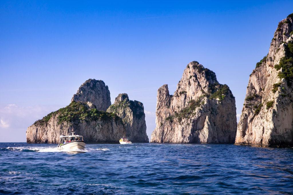 I tre faraglioni di Capri