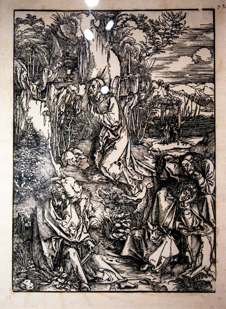 Il tema religioso nelle opere d'arte di Albrecht Dürer - Cristo sul Monte degli ulivi (1511)