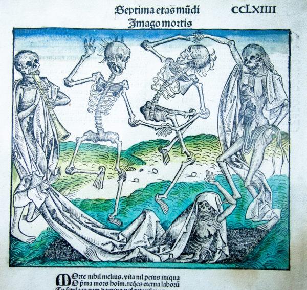 Imago Mortis (1493) Xilografia colorata