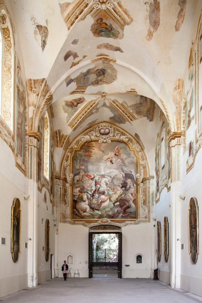 Ingresso della chiesa della Certosa di San Giacomo a Capri