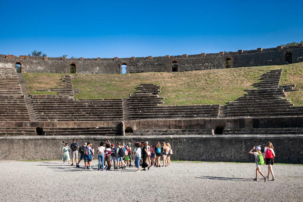 Interni Anfiteatro - Costruito ai margini della città