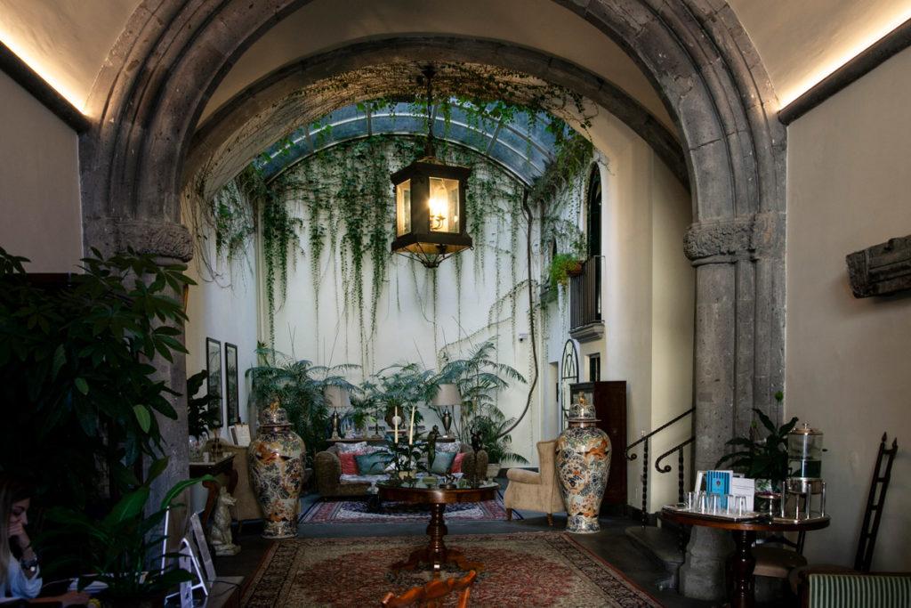 Interni del palazzo Marziale - hotel di lusso