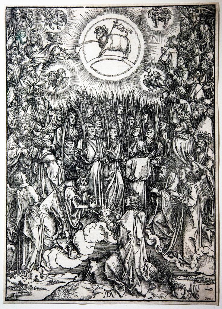 L'Adorazione dell'Agnello - Xilografia di Albrecht Dürer 1496/1497