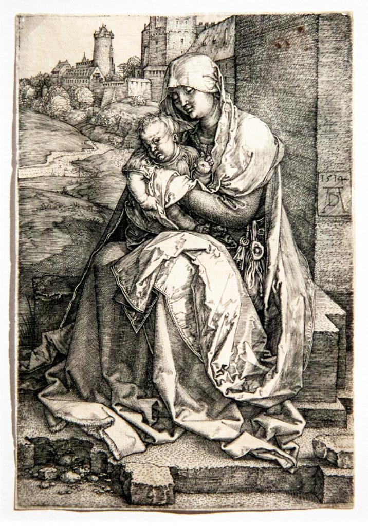 La Madonna con il bambino seduta presso un muro - 1514 - Le Madonne di Albrecht Dürer