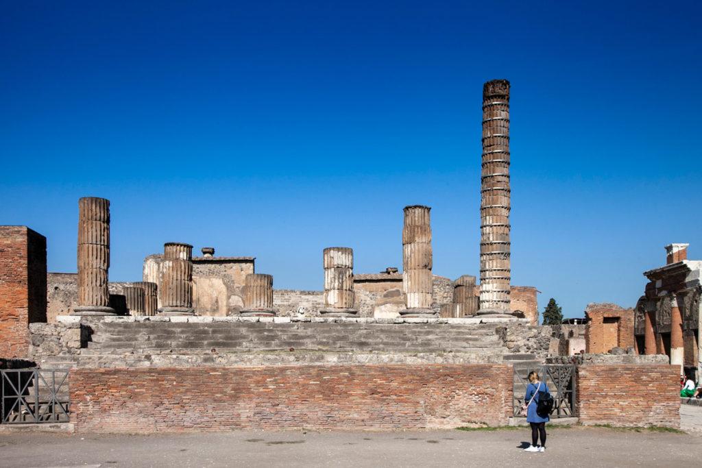 Le colonne del Tempio di Giove - Sito Archeologico di Pompei