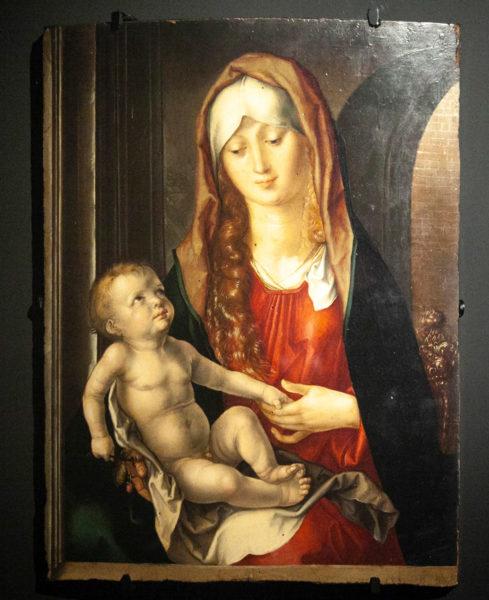 Madonna del Patrocinio di Albrecht Dürer - Dipinto esposto al museo civico delle Cappuccine di Bagnacavallo