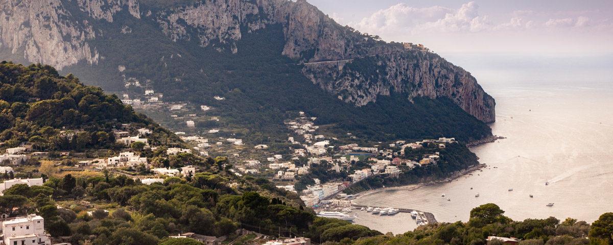 Marina Grande vista dalla strada per Villa Jovis