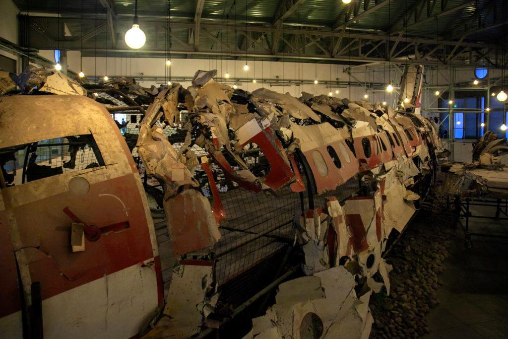 Museo per la Memoria di Ustica - Frammenti aereo recuperati in mare