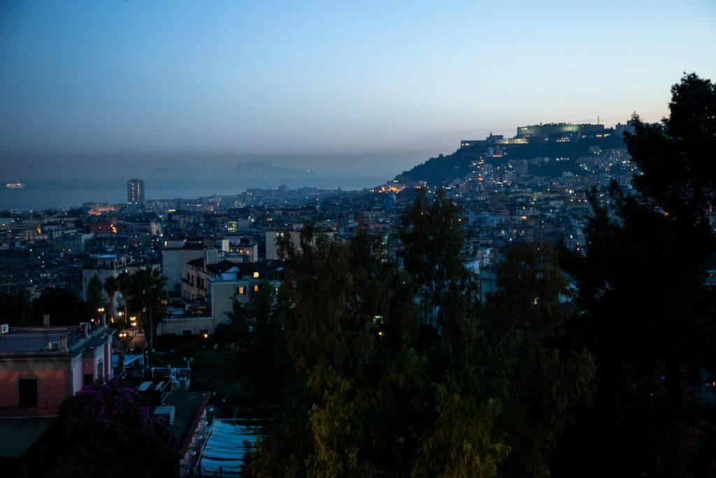 Panorama su Napoli dal Parco di Capodimonte a Napoli