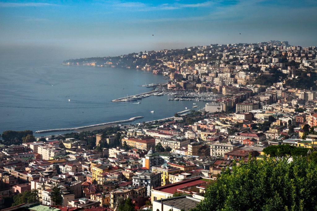 Panorama su Napoli e sul suo Lungomare