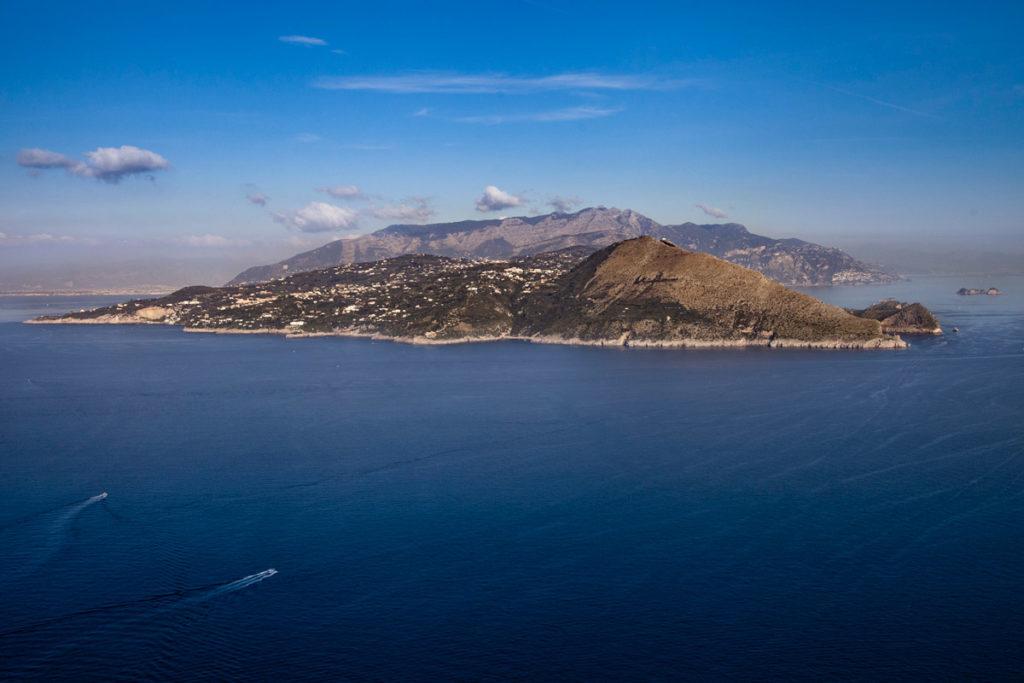 Panorama sulla penisola sorrentina da Villa Jovis