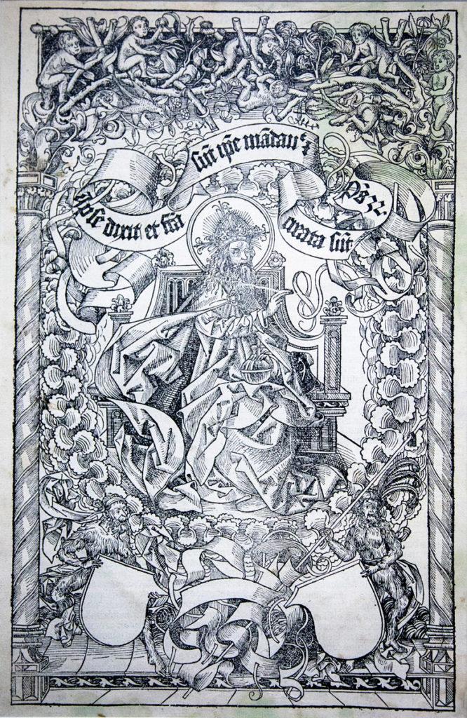 Pantocrator - Xilografia del 1493 di Albrecht Dürer
