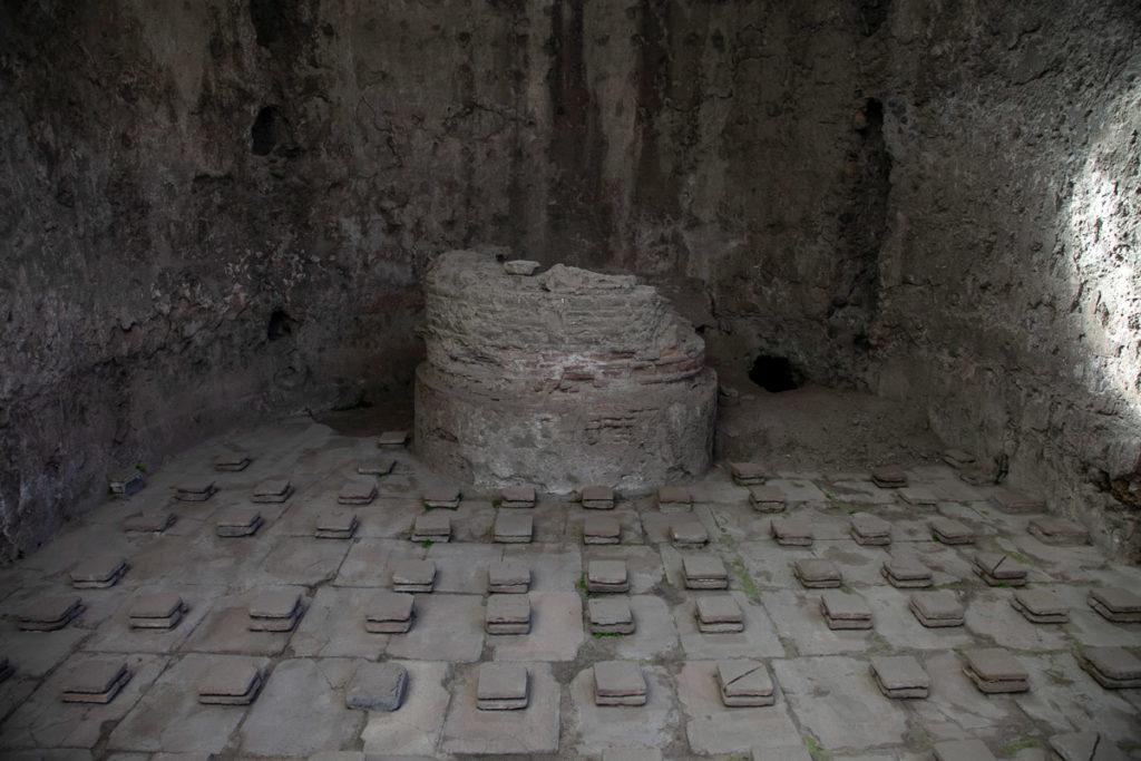 Pavimentazione delle terme Stabiane a Pompei