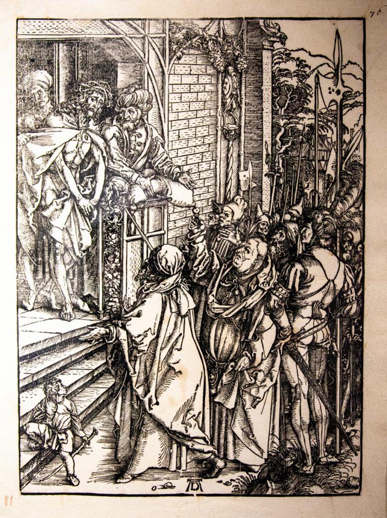Prospettiva imperfetta nelle opere di Albrecht Dürer - Ecce Homo (1511)