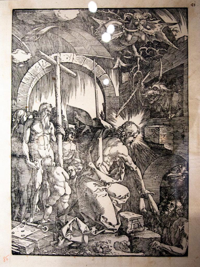 Rappresentazioni Cristiane di Albrecht Dürer - La discesa al limbo (1510)