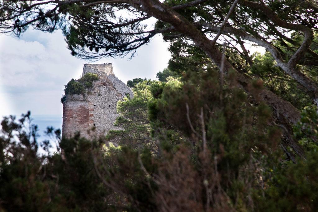 Resti della torre del Faro di Villa Jovis