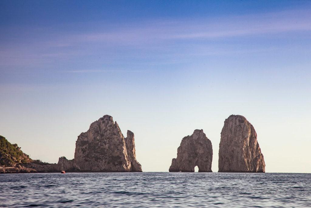 Saetta Stella e Scopolo - i Tre Faraglioni di Capri visti dal mare