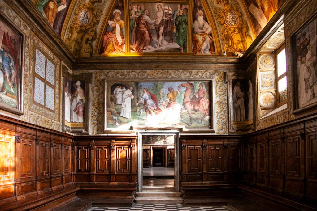 Sale rivestite in legno e affreschi della Certosa di San Martino