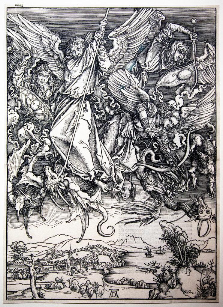 San Michele Uccide il Drago (1498) Albrecht Dürer