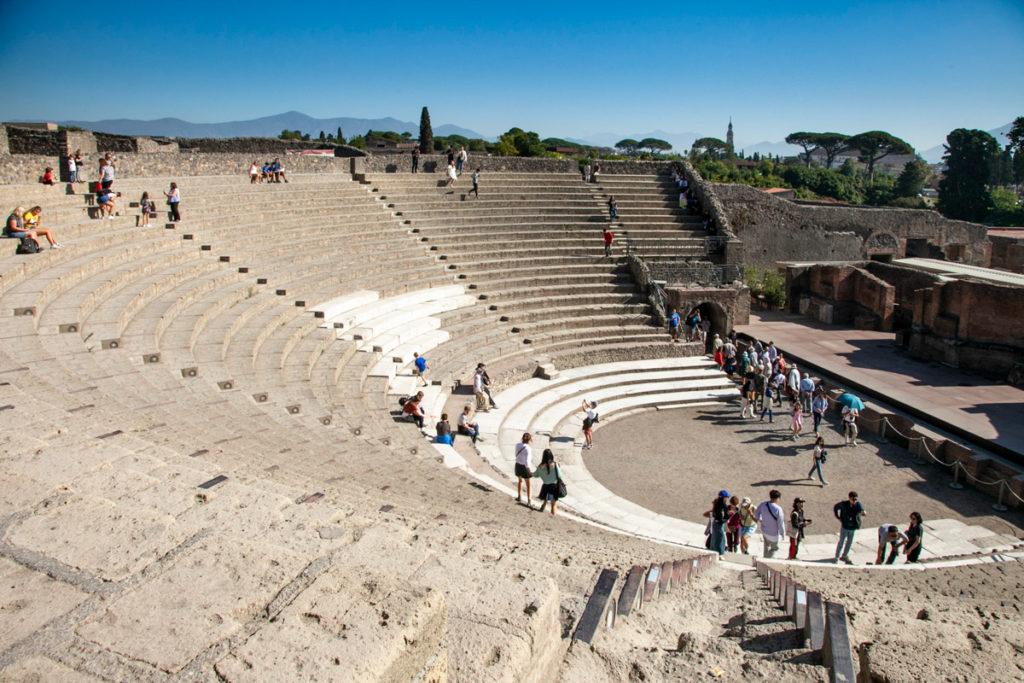 Spalti del Teatro Grande di Pompei