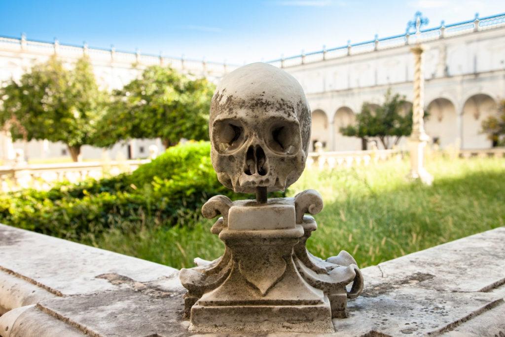 Teschio - Particolare del Cimitero della Certosa di San Martino