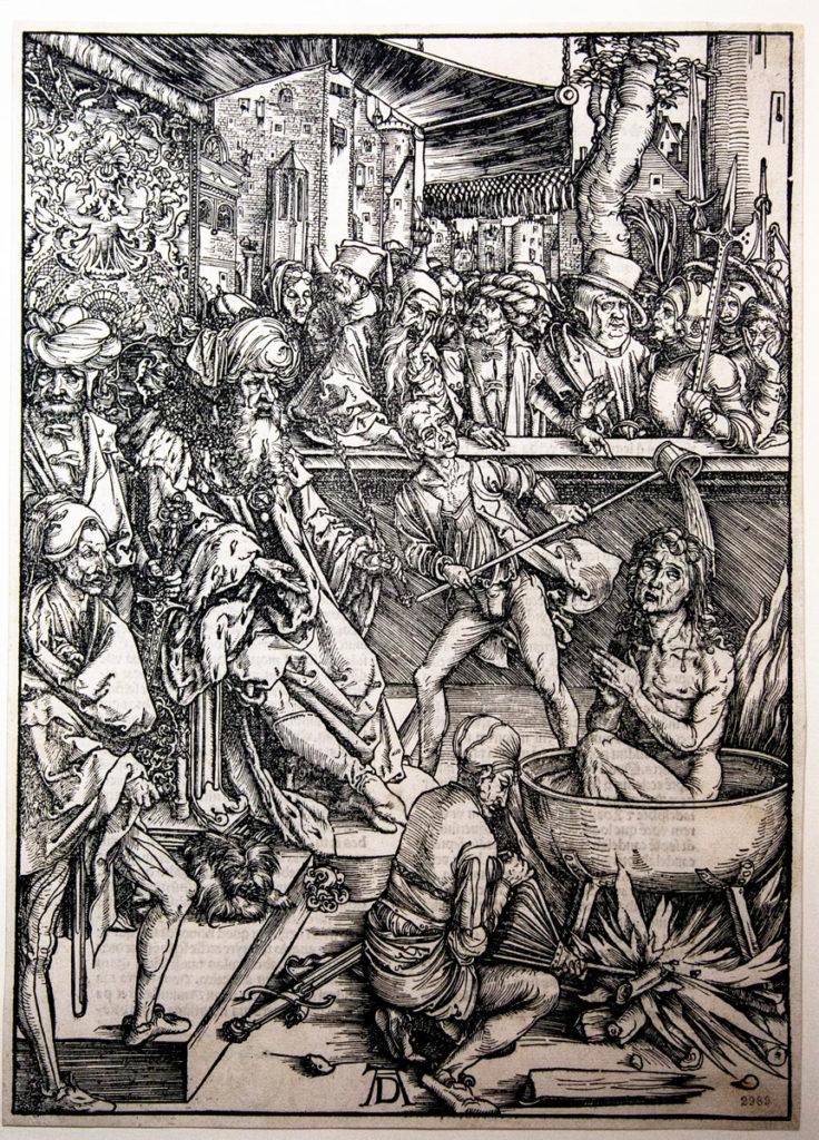 Tortura di San Giovanni - Xilografia di Albrecht Dürer