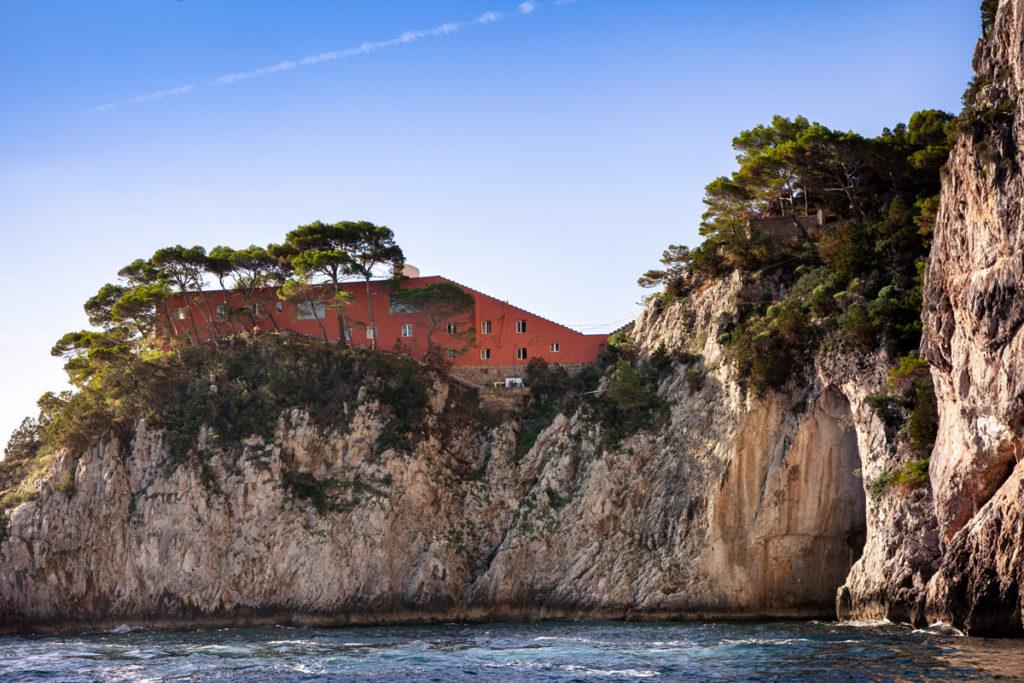 Villa Malaparte vista dal giro in barca