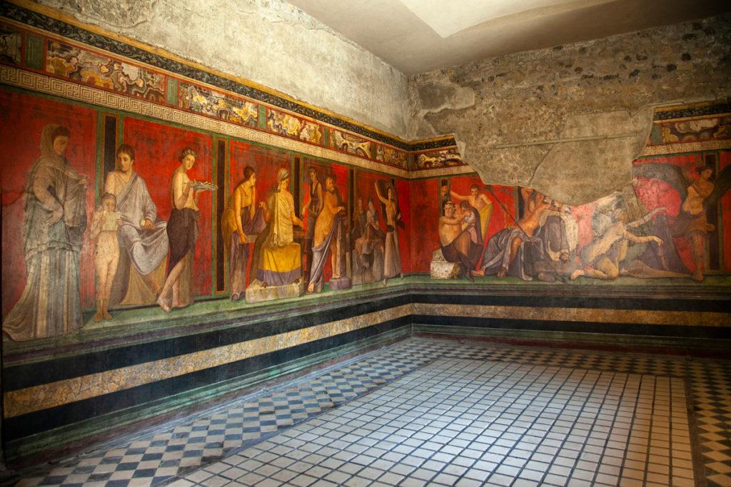Villa dei Misteri - Affresco su tre pareti - Cosa vedere a Pompei