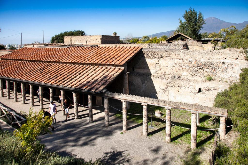 Villa dei Misteri di Pompei vista da sopra