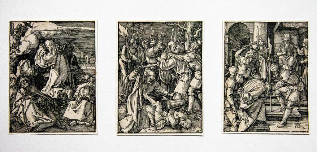 Xilografie di Albrecht Dürer sul tema cristiano - Cristo sul monte degli ulivi (1510) - Il bacio di Giuda (1509) - Cristo davanti ad Anna (1508/1509)