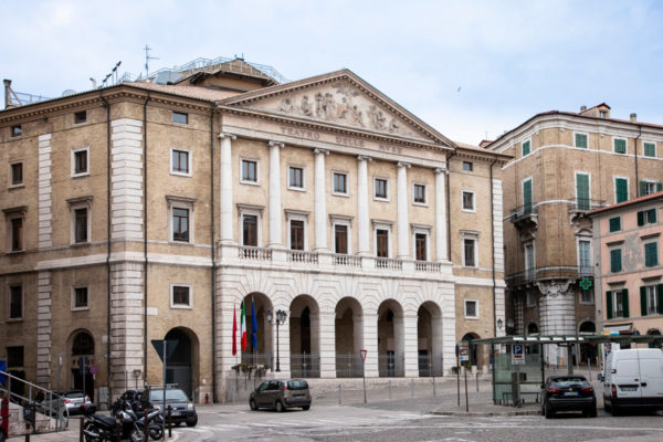 Facciata del Teatro delle Muse di Ancona