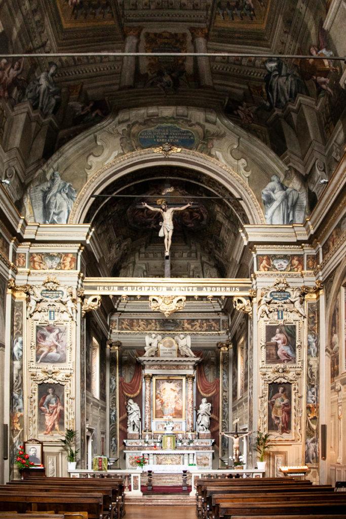 Interni del Santuario di Santa Maria delle Grazie a Crema
