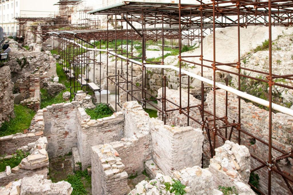 Scavi archeologici del porto romano di Ancona