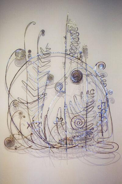 Testata del letto di Peggy Guggenheim in Argento - Alexander Calder