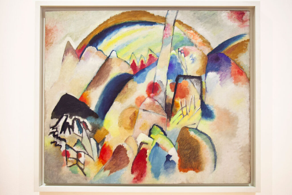 Vasily Kandinsky – Paesaggio con Macchie Rosse Numero 2