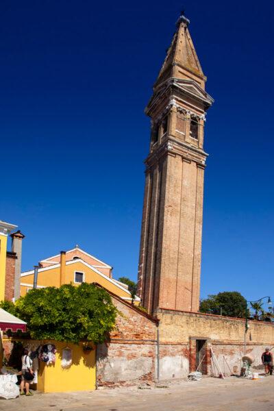 Campanile inclinato della chiesa di San Martino Vescovo - Burano