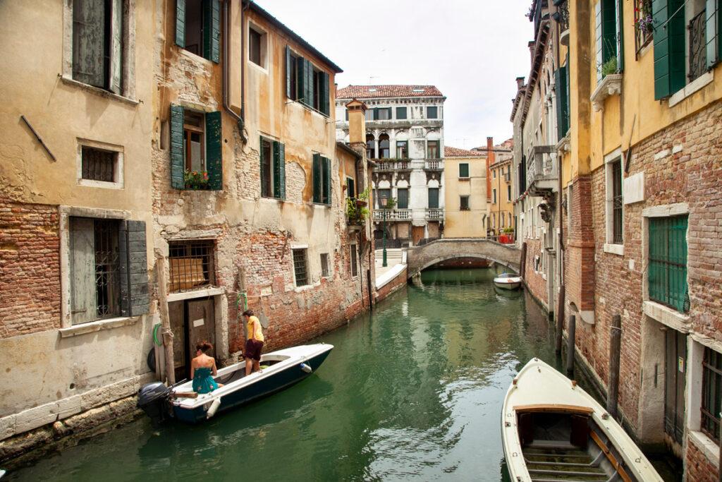 Canali di Venezia nel sestiere Castello